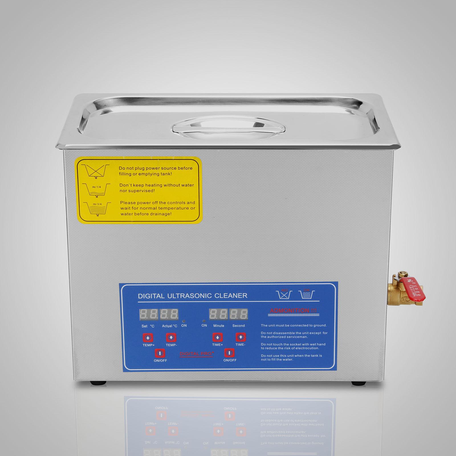 6 Liter Stainless Steel Digital Ultrasonic Cleaner