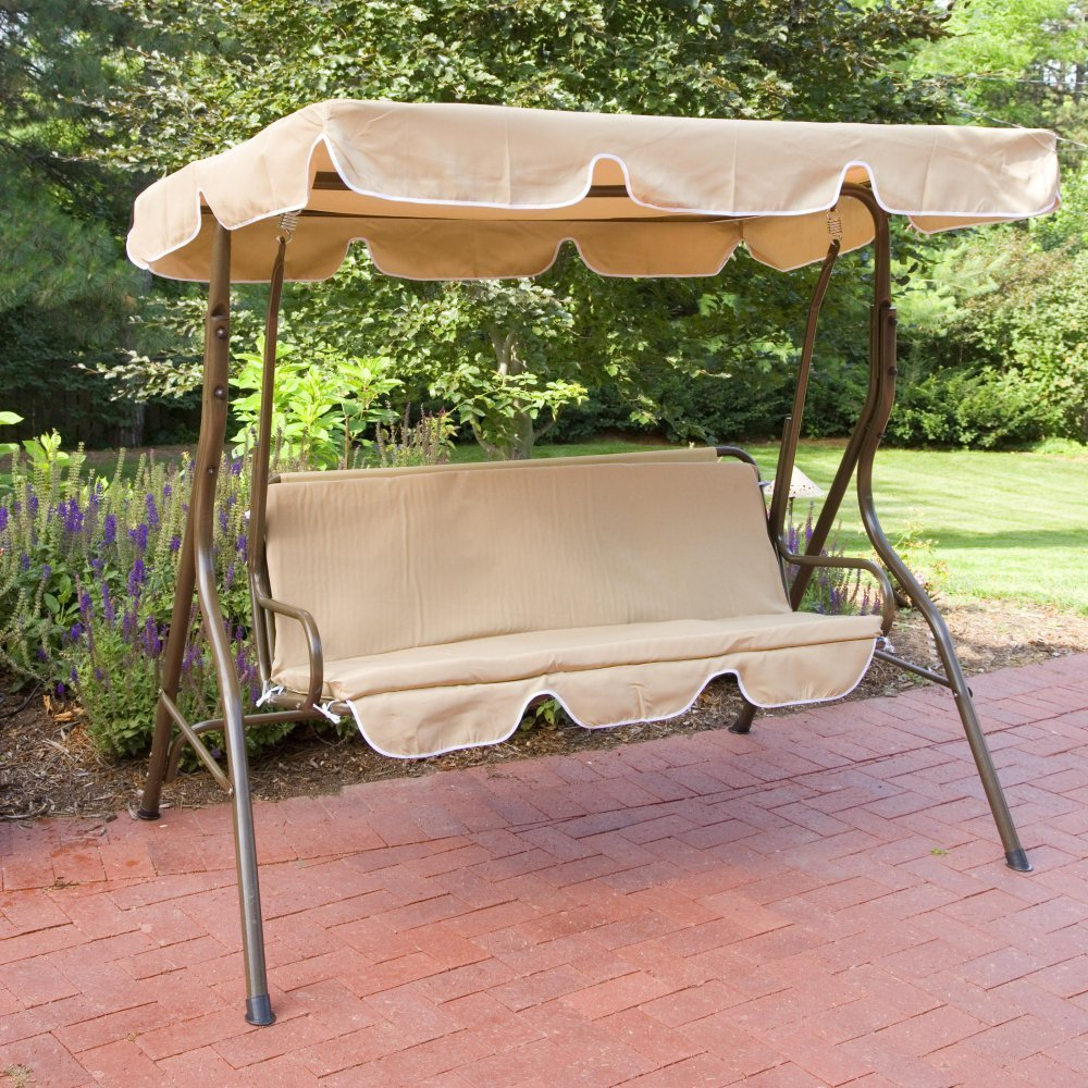 patio swing bench / metal canopy swing / garden hanging