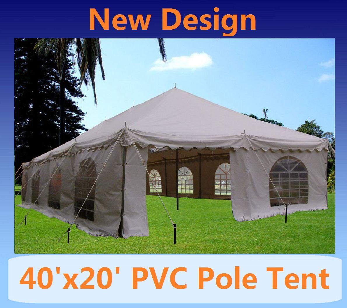 20 x 40 PVC Pole Tent Canopy & 20 x 40 PVC Pole Tent Canopy Gazebo -