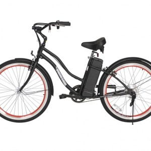 South Beach Step Through Electric Bicycle Cruiser - Black 2