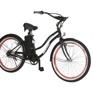 South Beach Step Through Electric Bicycle Cruiser - Black 3