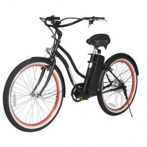 South Beach Step Through Electric Bicycle Cruiser - Black