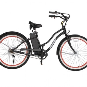 South Beach Step Through Electric Bicycle Cruiser - Black 4