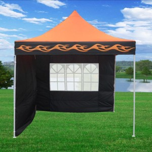 10 x 10 Orange Flame Pop Up Tent Canopy 2