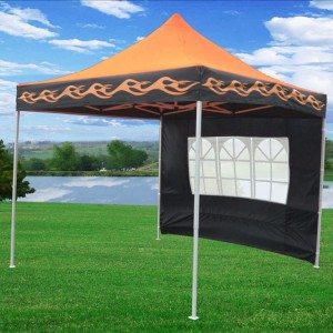 10 x 10 Orange Flame Pop Up Tent Canopy 3