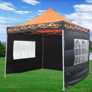 10 x 10 Orange Flame Pop Up Tent Canopy