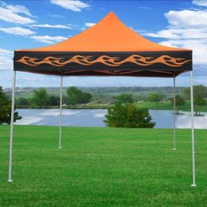 10 x 10 Orange Flame Pop Up Tent Canopy 4