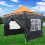 10 x 10 Orange Flame Pop Up Tent Canopy 5