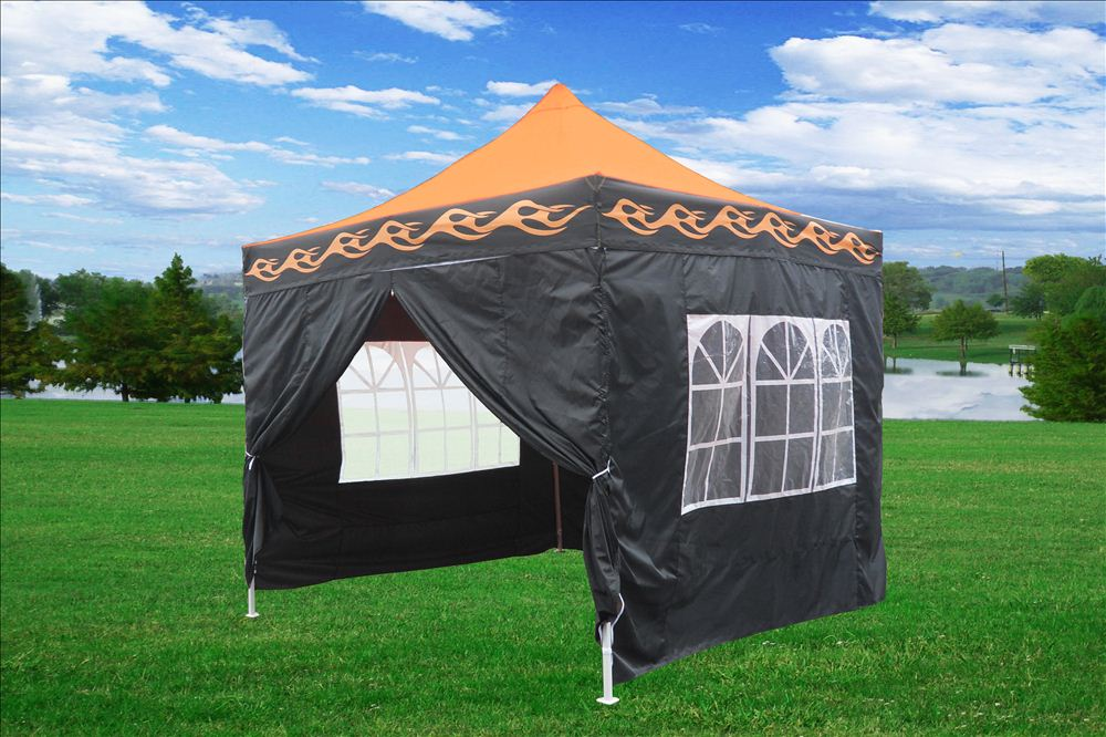10 x 10 Orange Flame Pop Up Tent Canopy 5 & 10 x 10 Orange Flame Pop Up Tent Canopy -