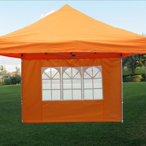 10 x 10 Orange Pop Up Canopy Tent 3