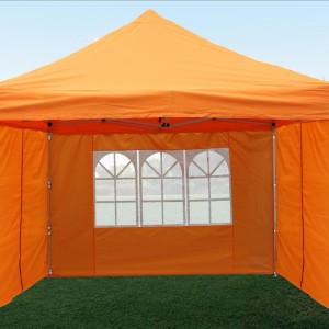 10 x 10 Orange Pop Up Canopy Tent