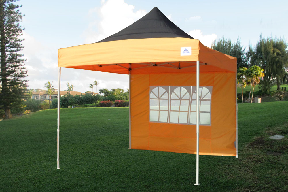 10 x 10 Orange Pop Up Tent Canopy