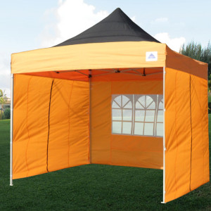 10 x 10 Orange Pop Up Tent Canopy