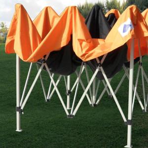 10 x 10 Orange Pop Up Tent Canopy 4
