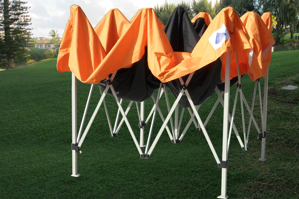 10 x 10 Orange Pop Up Tent Canopy 4 & 10 x 10 Orange Pop Up Tent Canopy -