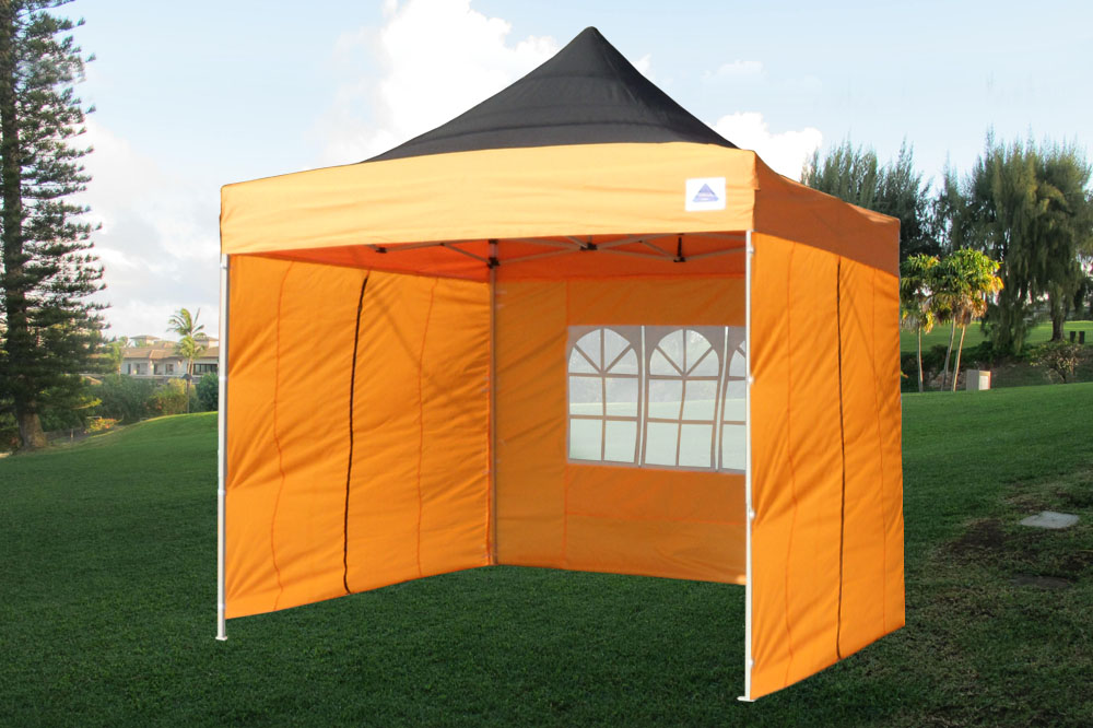 10 x 10 orange pop up tent canopy. Black Bedroom Furniture Sets. Home Design Ideas