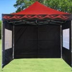 10 x 10 Red Flame Pop Up Tent Canopy