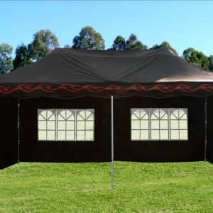 10 x 20 Black Flame Pop Up Tent Canopy 3