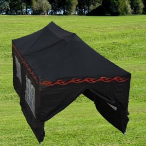 10 x 20 Black Flame Pop Up Tent Canopy