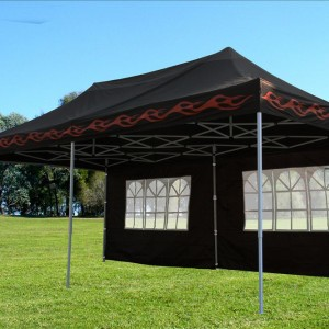 10 x 20 Black Flame Pop Up Tent Canopy 4