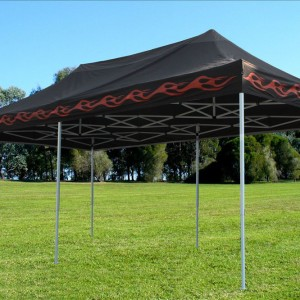 10 x 20 Black Flame Pop Up Tent Canopy 5