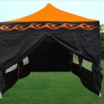 10 x 20 Orange Flame Pop Up Tent Canopy
