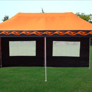 10 x 20 Orange Flame Pop Up Tent Canopy 2