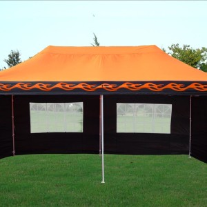 10 x 20 Orange Flame Pop Up Tent Canopy 3