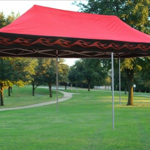 10 x 20 Red Flame Pop Up Tent Canopy 2