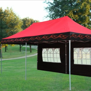10 x 20 Red Flame Pop Up Tent Canopy 3