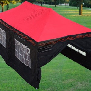 10 x 20 Red Flame Pop Up Tent Canopy