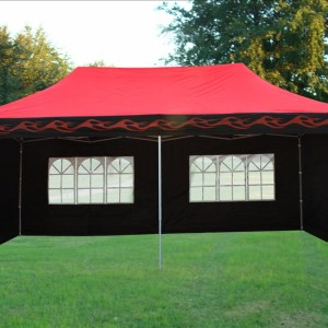 10 x 20 Red Flame Pop Up Tent Canopy 5
