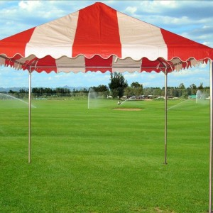 10 x 10 PVC Party Tent Canopy - Red & White 2