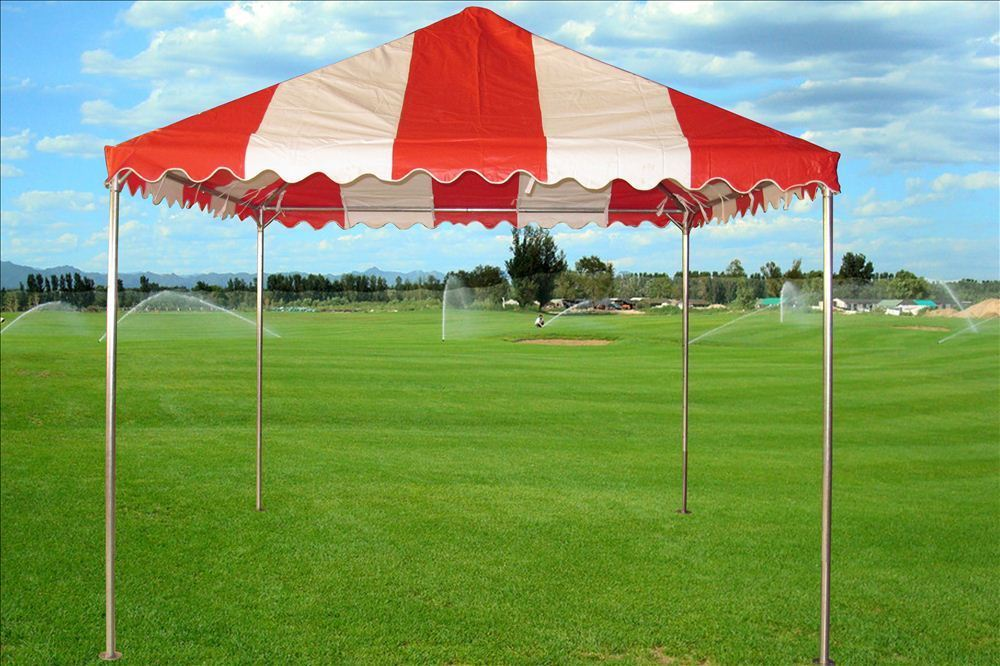10 x 10 PVC Party Tent Canopy - Red u0026 White 2 & 10 x 10 PVC Party Tent Canopy - Red u0026 White -