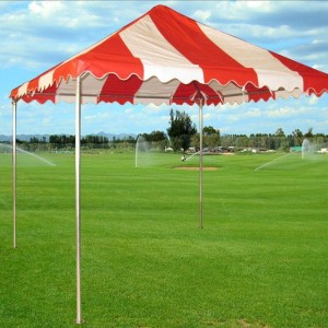 10 x 10 PVC Party Tent Canopy - Red & White