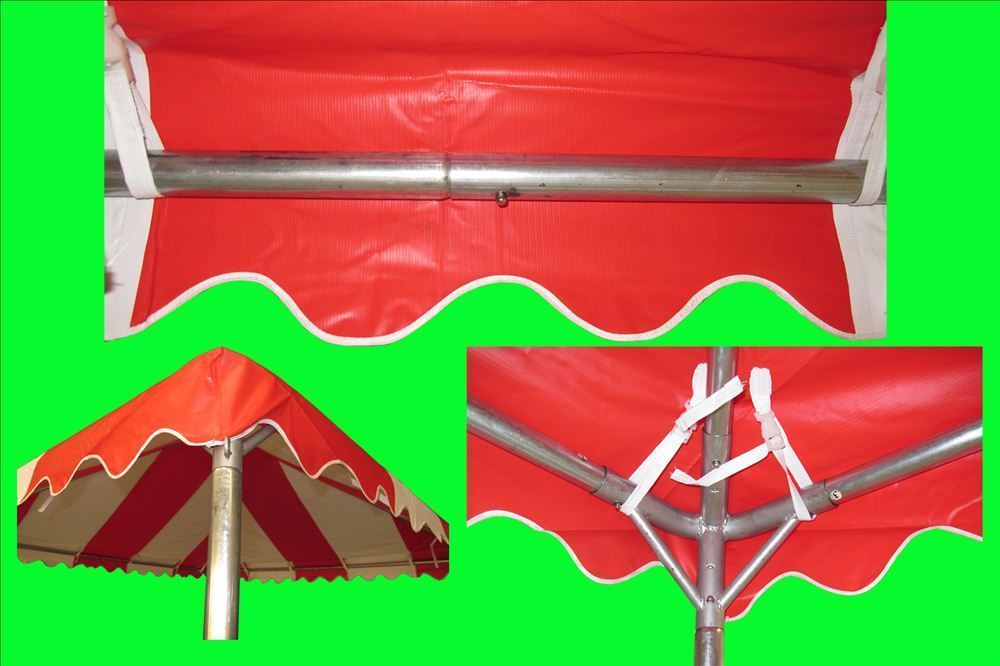 10 x 10 PVC Party Tent Canopy - Red u0026 White Frame 2 & 10 x 10 PVC Party Tent Canopy - Red u0026 White -