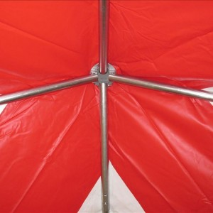 10 x 10 PVC Party Tent Canopy - Red & White Frame