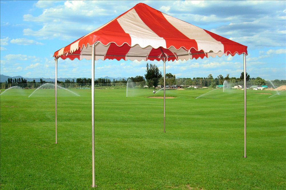 10 x 10 PVC Party Tent Canopy - Red u0026 White & 10 x 10 PVC Party Tent Canopy - Red u0026 White -