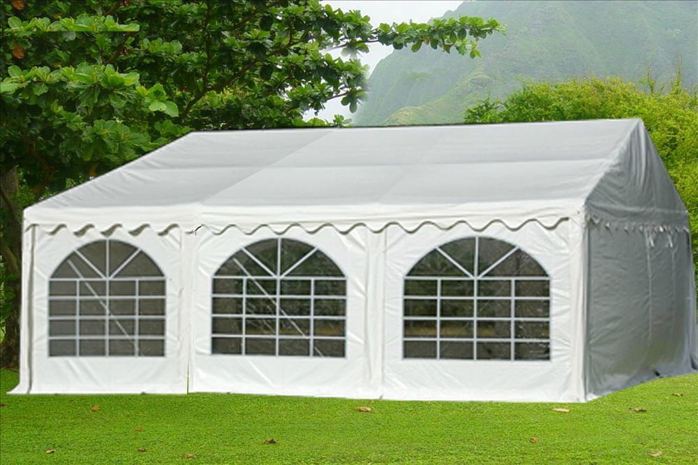 20 x 20 White PVC Party Tent Canopy 3 & 20 x 20 White PVC Party Tent Canopy -