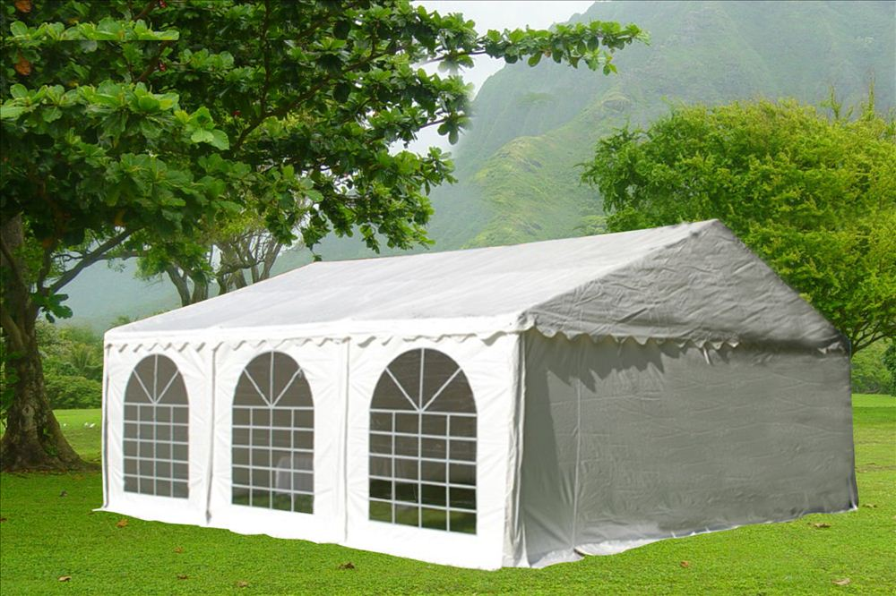 20 x 20 White PVC Party Tent Canopy 4 & 20 x 20 White PVC Party Tent Canopy -