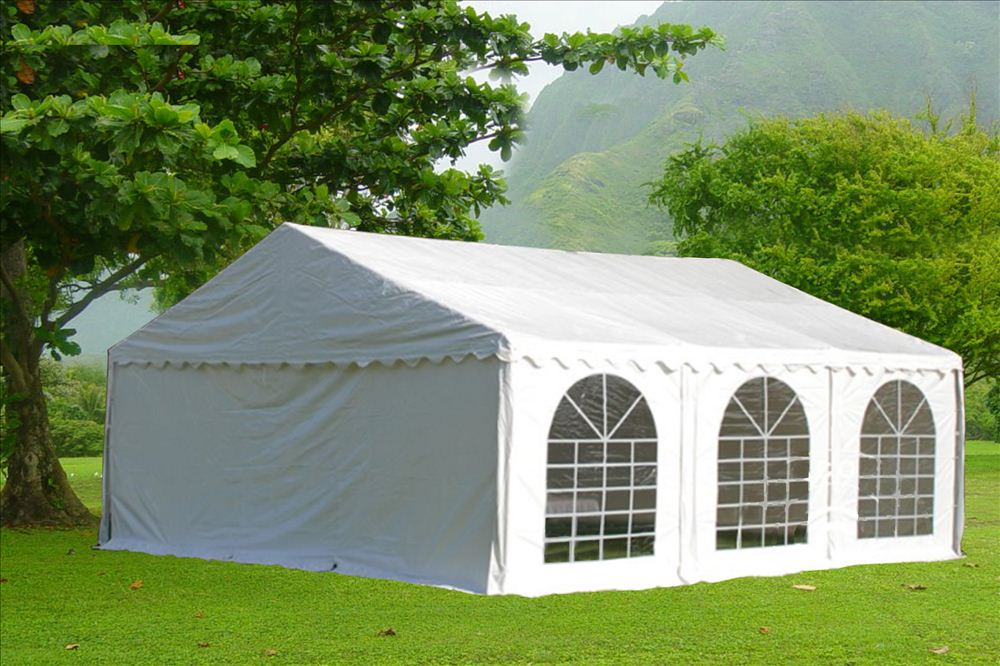 20 x 20 White PVC Party Tent Canopy 6 & 20 x 20 White PVC Party Tent Canopy -