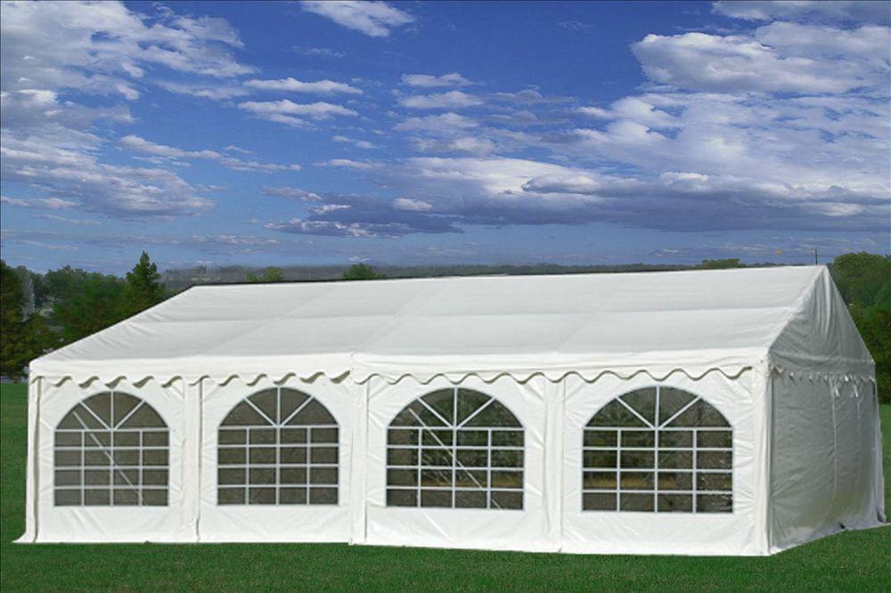 26 x 20 White PVC Party Tent 2 & 26 x 20 White PVC Party Tent