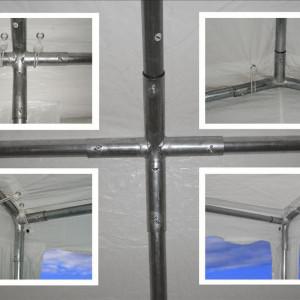 26 x 20 White PVC Party Tent - Frame