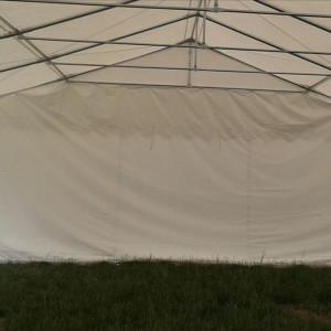 26 x 20 White PVC Party Tent - Inside