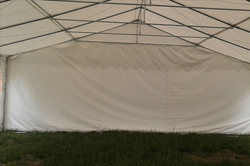 Pop Up Canopy Tent >> 26 x 20 White PVC Party Tent