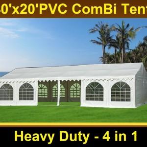 40 x 20 White PVC Combi Party Tent