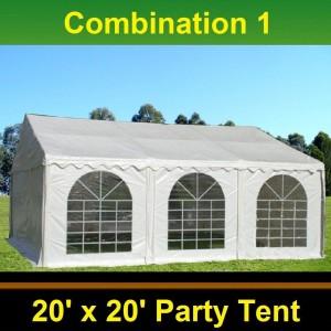 40 x 20 White PVC Combi Party Tent - Combi 1
