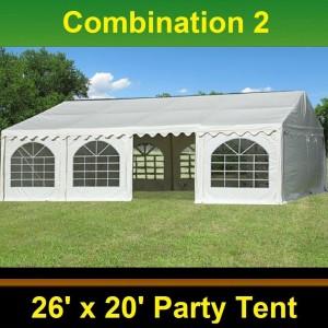 40 x 20 White PVC Combi Party Tent - Combi 2