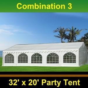 40 x 20 White PVC Combi Party Tent - Combi 3