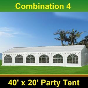 40 x 20 White PVC Combi Party Tent - Combi 4